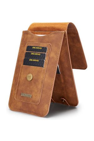 Newchic Men 5.2 inch Genuine Leather Phone Bag 11/13 Card Slot