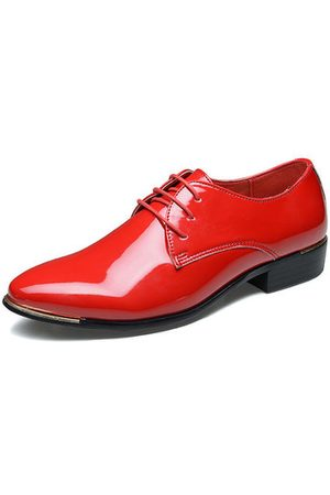 Newchic Men Patent Leather Dress Shoes