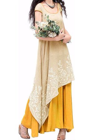 Newchic Women Maxi Dresses - Vintage Embroidered Sleeveless Dresses