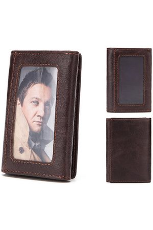 Newchic Men Wallets - Men Vintage Genuine Leather Coin Bag Card Holder Wallet