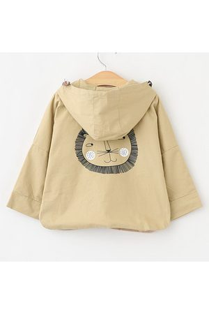 Newchic Lion Printed Girls Spring Autumn Hooded Coat
