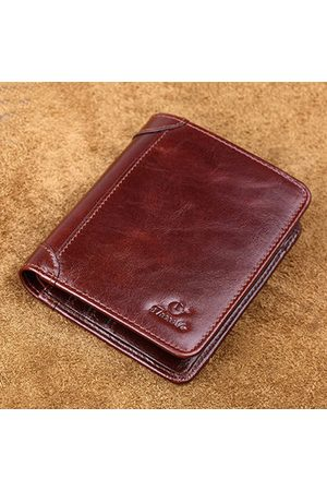 Newchic Genuine Leather Vintage Business Short Driver License Wallet