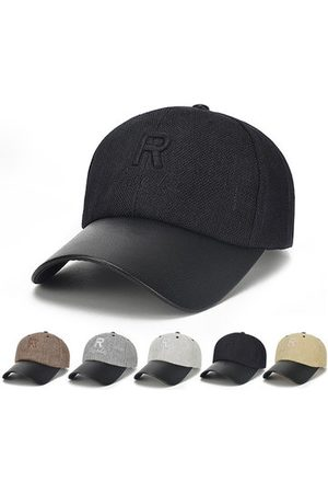 Newchic Cotton R Letter Solid Color Baseball Cap