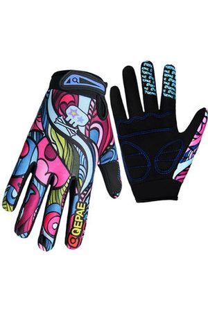 Newchic Mesh Cloth Painting Pattern Full-finger Gloves