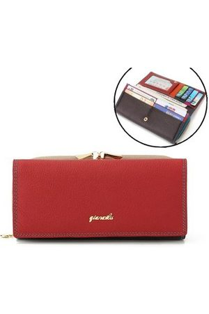 Newchic Women Wallets - QIANXILU 9 Card Holders Genuine Leather Coin Bag Wallet