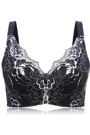Newchic Lace Embriodery Gather Adjustable Bras
