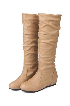 Newchic Large Size Knee High Pu Boots