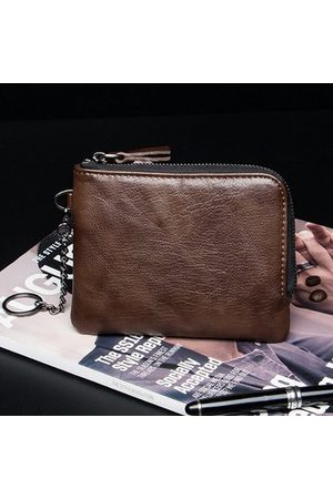 Newchic Men Microfiber Card Holder Coin Bag Mini Wallet