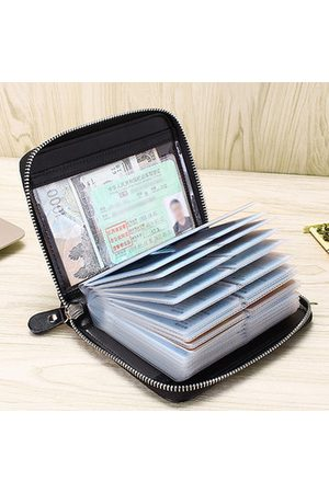 Newchic Men Wallets - RFID Multifunction Concise Wallet 20/40 Card Slot Purse