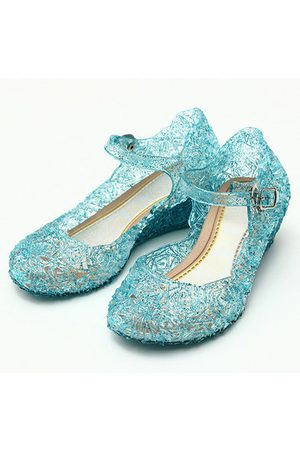 Newchic Frozenly Elsa Princess Crystal Hole Sandals Girls Cosplay Girl Shoes Blue