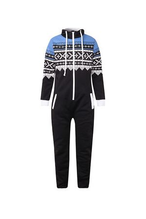 Newchic Men Pyjamas - Mens Home Printing Jumpsuit