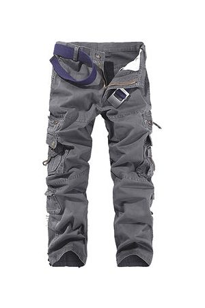 Newchic Men Cargo Pants - Multi-pocket Casual Cotton Cargo Pants