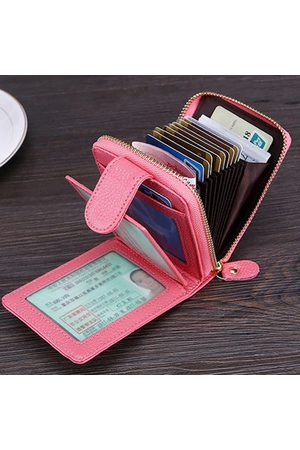 Newchic Men And Women RFID Genuine Leather Wallet 10 Card Slot