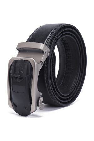 Newchic 130cm Durable Real Cowhide Leather Auto Buckle Belt