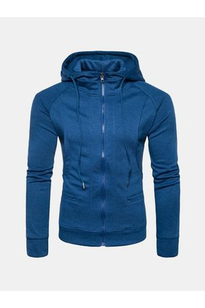 Newchic Mens Brief Casual Sport Zip Up Hooded Tops