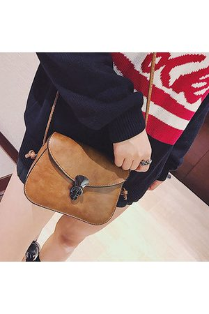 Newchic Women PU Leather Flap Hasp Shoulder Bag