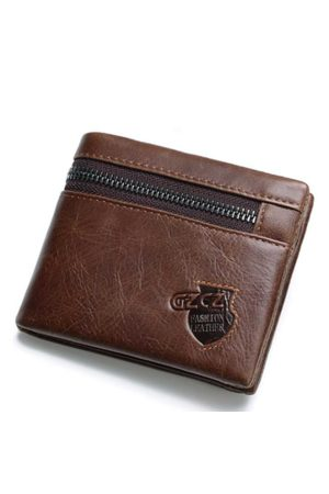 Newchic Vintage Genuine Leather 11 Card Slots Trifold Wallet