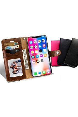 Newchic Women Phone Cases - Detachable Genuine Leather Phone Case For iphone 5 Card Slot