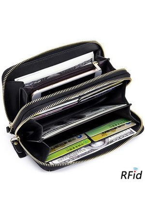 Newchic RFID Genuine Leather High Capacity Long Wallet