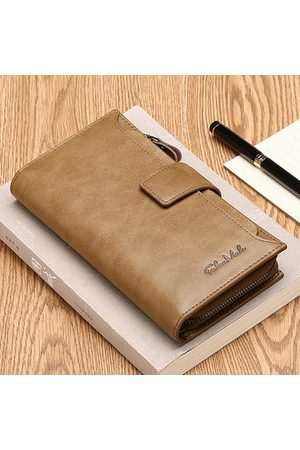 Newchic Genuine Leather Vintage 14 Card Slots Long Wallet Clutch Bag