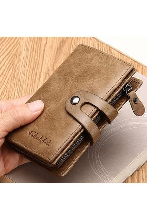 Newchic Genuine Leather Vintage 10 Card Slots Wallet For Men