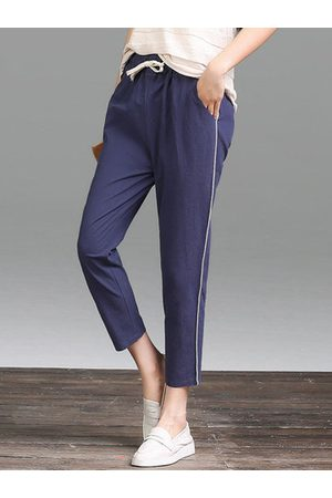 Newchic Elastic Waist Drawstring Pencil Pants