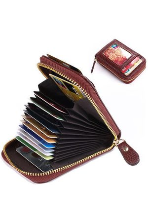 Newchic Women PU Solid 11 Card Slot Card Holder Concise Wallet