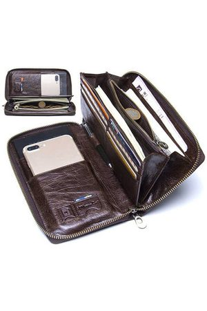 Newchic Genuine Leather Business Multi-functional Clutch Bag For Men