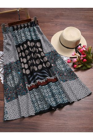 Newchic Vintage A-Line Printed Long Skirt