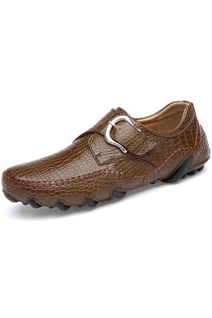 Newchic Men Leather Slip Ons