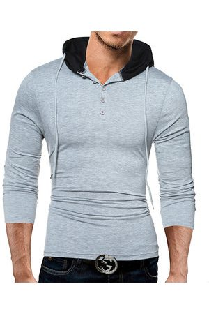 Newchic Slim Fit Casual Hooded T-shirt