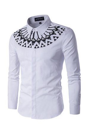 Newchic Slim Fit Long Sleeve Shirts