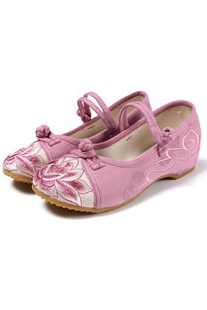 Newchic Comfortable Casual Shoes Embroidered Splicing Flat Loafers