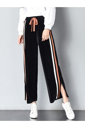 Newchic Women Capris - Casual Striped Elastic Waist Pants
