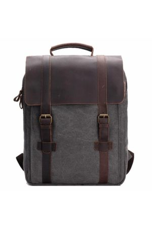 Newchic Vintage Canvas 15 inch Laptop Bag Commuter Bag Backpack