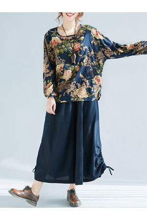 Newchic Floral Printed Long Sleeve Blouse Shirt