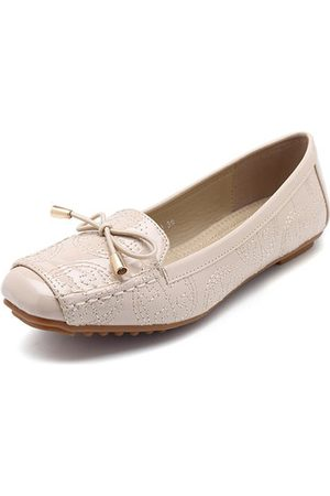 Newchic Almond Toe Portable Bow Flat Soft Loafers For Women
