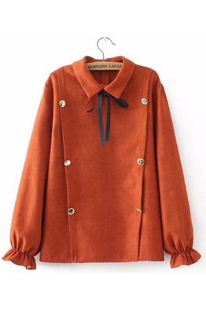 Newchic Women Long sleeves - Casual Solid Button Long Sleeve Lapel Shirt