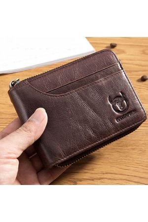Newchic BULLCAPTAIN Genuine Leather Short Wallets 7 Card Holder