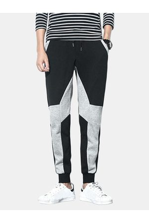 Newchic M-5XL Stitching Color Joggers Sport Pants