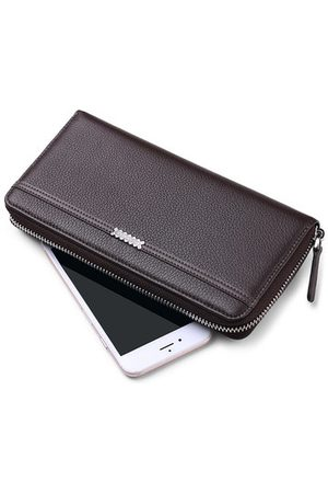 Newchic FALANMULE Genuine Leather Zipper Long Wallets