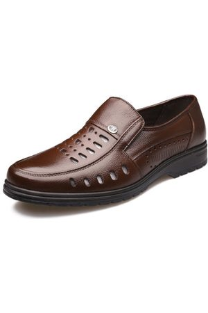 Newchic Men Hollow Out Leather Shoes
