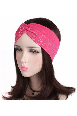 Newchic Women Diamond Elastic Cross Headband