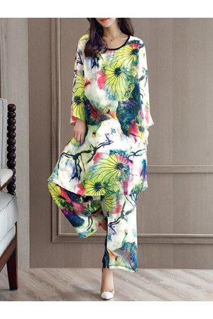 Newchic Printed Chiffon Two-piece Outfits