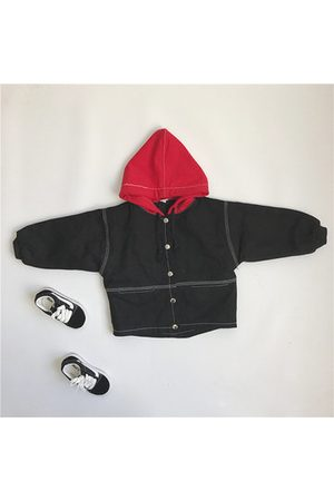 Newchic Patchwork Design Boys Hooded Coat
