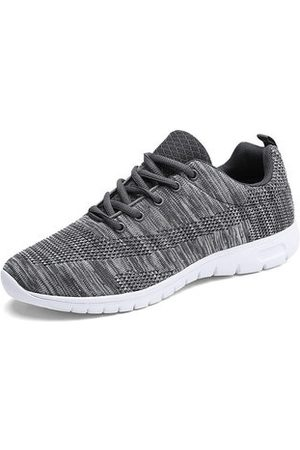 Newchic Men Large Size Knitted Fabric Sport Casual Sneakers