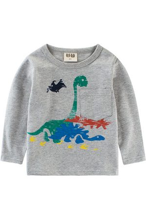 Newchic Boys Long Sleeve - Dinosaur Baby Boys Long Sleeve Tees