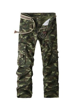 Newchic Men Cargo Pants - 100% Cotton Camouflage Cargo Pants