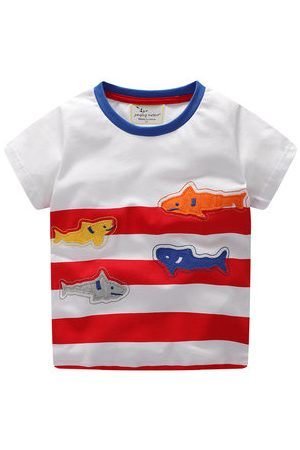 Newchic Shark Baby Boys Short Sleeve Tees