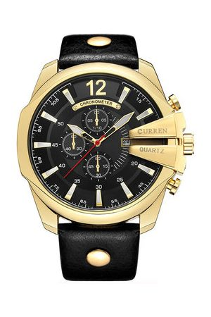 Newchic Big Dial Genuine Leather Watches